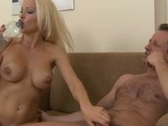 Busty golden-haired Stacy Silver enjoys procurement will not hear of pussy and ass pounded