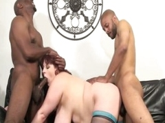 Two monster black jocks stuffing horny big knockers fat unspecified