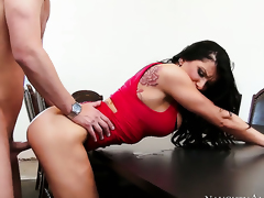 Seth Gamble is one hard-dicked dude who loves fucking Romi Rain with big scoops and smooth fur pie