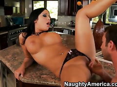 Angelica Heart with kewl ass and shaved beaver makes her anal fantasies a reality with hot guyJordan Ash
