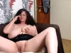 Old aged with huge saggy natural hangers - snatch