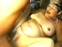 Uninhibited granny is eager to get fucked hard in doggy style