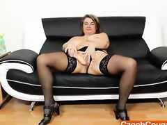Amateur mom Drahuse solo with a fake penis