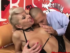 Perverted pierced mature harcore drilled