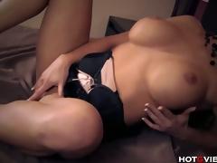 Breasty Blonde Has Convulsing Orgasms