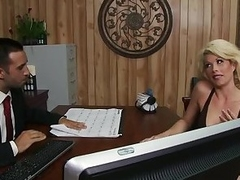 Blonde Brooke Heaven Teat Fucking Her Boss's Cock With Her Fat Tits
