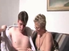 young couple and  older Mom fucks