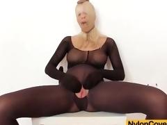 Solo pantyhose fetish porn with big scones blonde