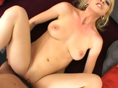 Lusty whore Anita Blue gets her fur pie stabbed by a monster rod deep