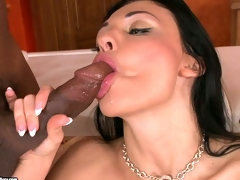 Big boobed Aletta Ocean awaits a hot load to explode on her messy face