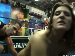 Rockin hot momma Austin Kincaid gets an astounding blast of warm cum on her mouth