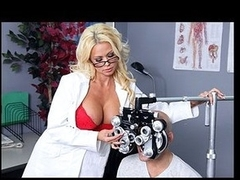 Nikita, a hawt optometrist, is crushing hard on one of her clients. When that babe learns that guy's coming in for an eye exam, that babe gives a decision to fuck with him a little - until this lad truly fucks her.
