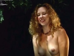 Sensual Athena Demos Shows Her Tits in an Outdoor Sex Scene