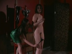 Busty Dominatrix Gives Painful Teat Torture To Her Lesbian Sex Slave