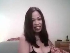 Sexy lady wants to make a good sex tape and asks her friend to help her out. He gets in screen and she puts on the best BJ show she can. He touches her too and displays her big tits and very hard nipples.