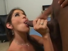 Sluty milf Felony pushes long darksome dong down her open throat
