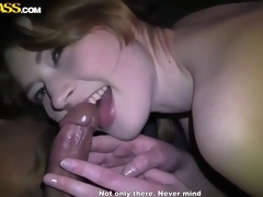 Cool car blowjob by ten prostitute Anika for a lot of specie