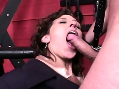 Naughty secretary receives taken to the dungeon and analized by her master