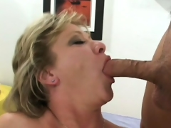Luscious mature blonde receives picked up on the street and fucked hard by 2 guys
