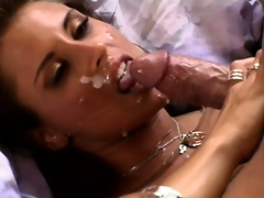 After they fuck and this chab cums on her face, his friend gets a turn