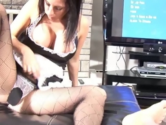Maid on duty butt jizzed