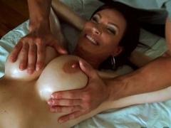 Diamond Foxxx have a puristic massage on her big interior