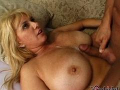 Big tits MILFs get cum