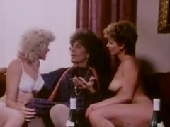 Retro lesbian sex and erotic triple